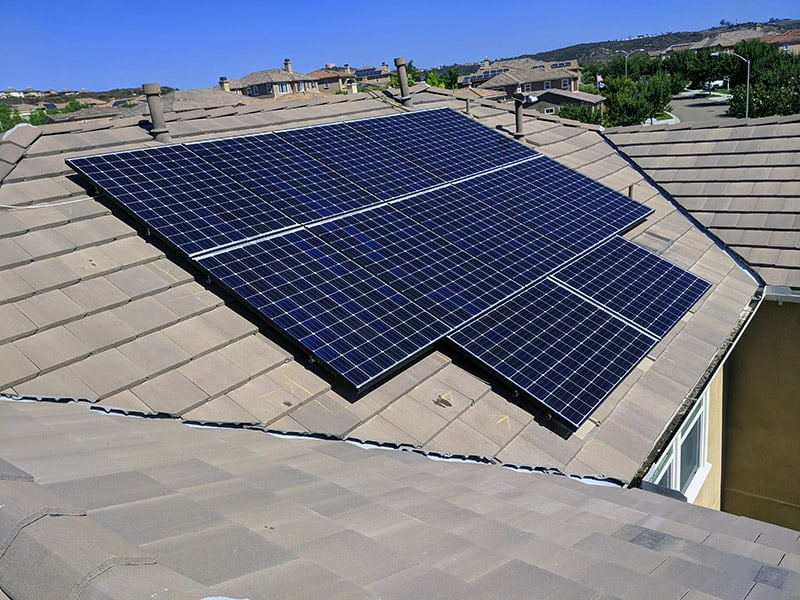Solar Panel from Sunline Energy on a residential roof